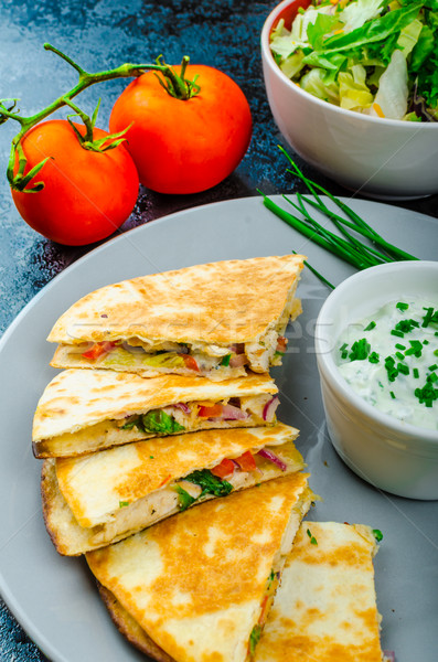 Chicken quesadilla Stock photo © Peteer