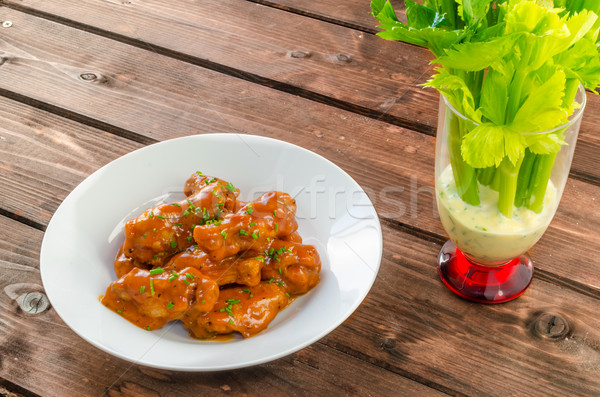 Buffalo chicken hot wings Stock photo © Peteer