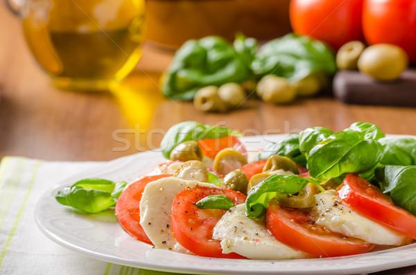 салат Капрезе итальянский Салат базилик помидоров Сток-фото © Peteer