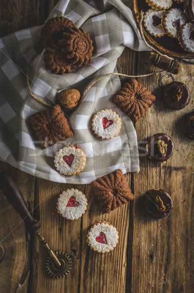 Cseh karácsony sütik hagyományos finom cukorka Stock fotó © Peteer