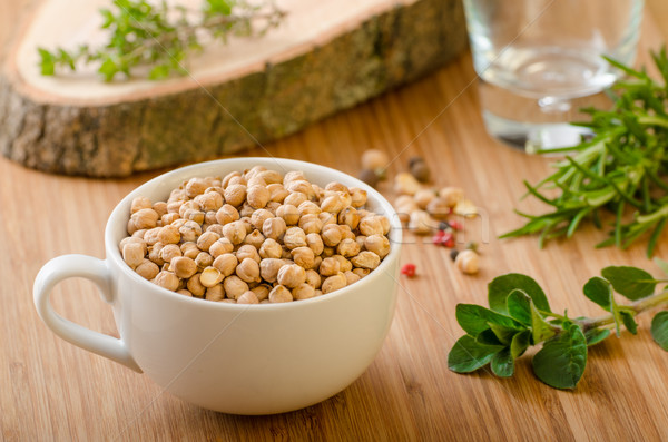 Raw and healthy chickpeas Stock photo © Peteer