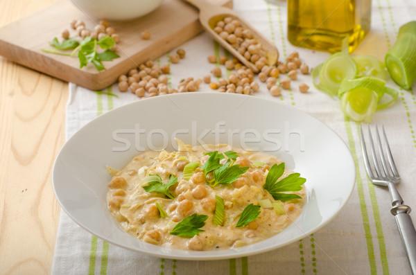 パプリカ クリーム ソース ハーブ オーガニック 食品 ストックフォト © Peteer