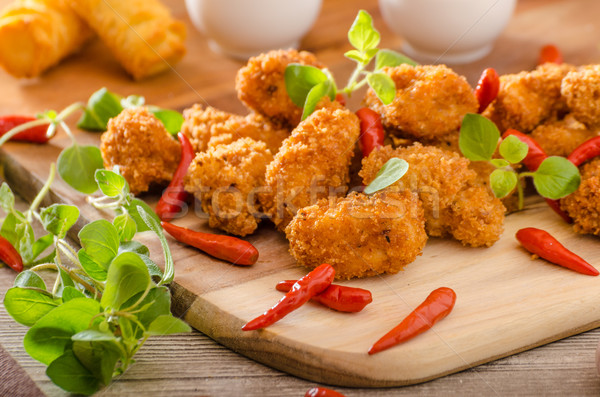 Chicken popcorn with croquettes Stock photo © Peteer