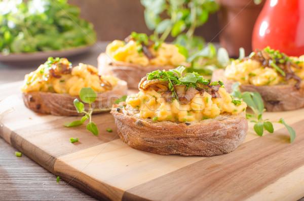 Tost otlar soğan sarımsak gıda Stok fotoğraf © Peteer