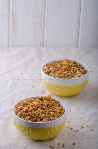 Granola pudín azúcar nueces arce Foto stock © Peteer