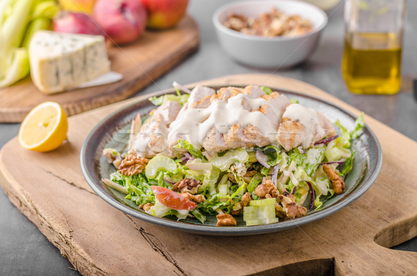 Waldorf salad with grilled chicken Stock photo © Peteer