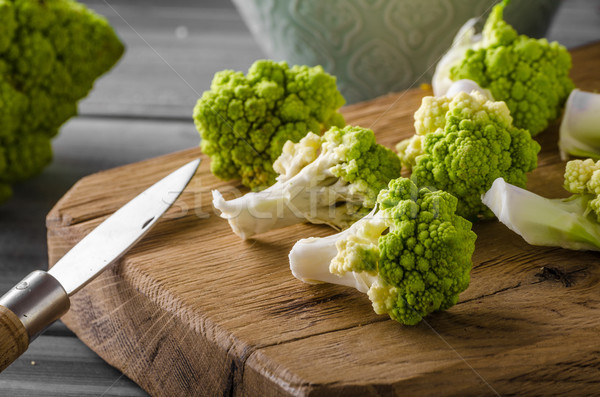 Green cauliflower bio vegetable Stock photo © Peteer