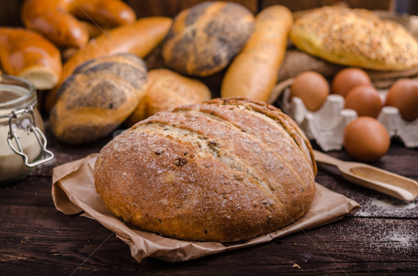 Homemade bread, product photo Stock photo © Peteer