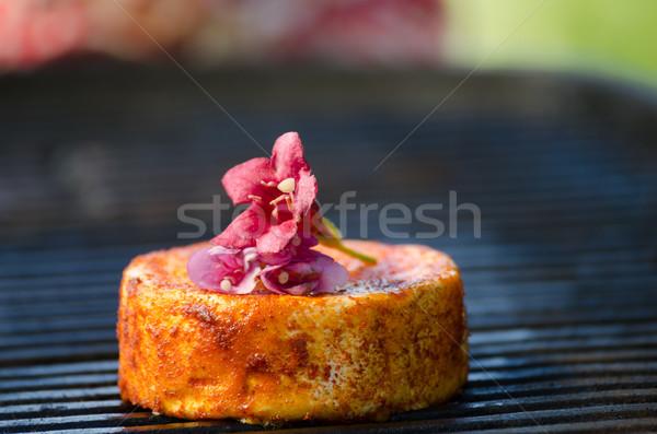 Camembert parrilla a la parrilla queso flor alimentos Foto stock © Peteer