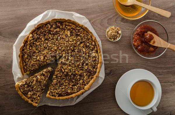 Cheesecake with honey Stock photo © Peteer