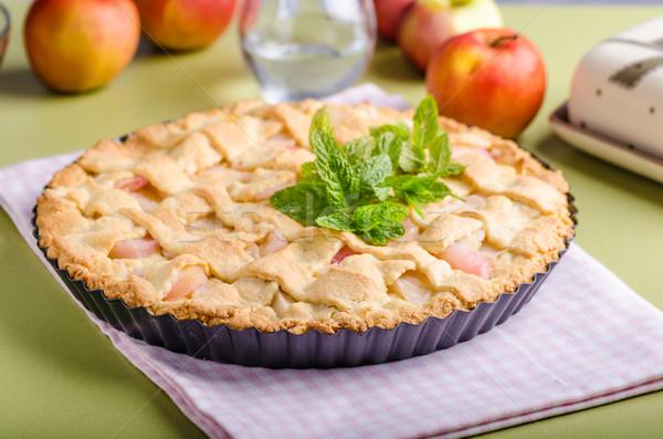 Rustique tarte aux pommes maison délicieux simple alimentaire Photo stock © Peteer
