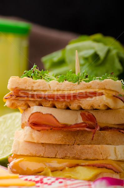 Sandwich kool rundvlees gekruid dressing vers Stockfoto © Peteer