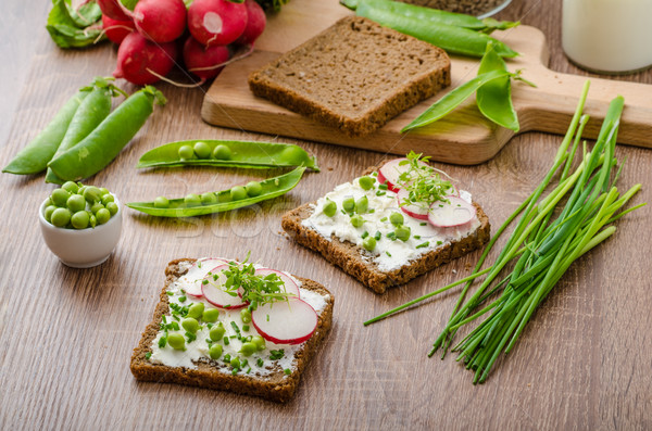 Stock photo: Healthy wholemeal bread with herbs