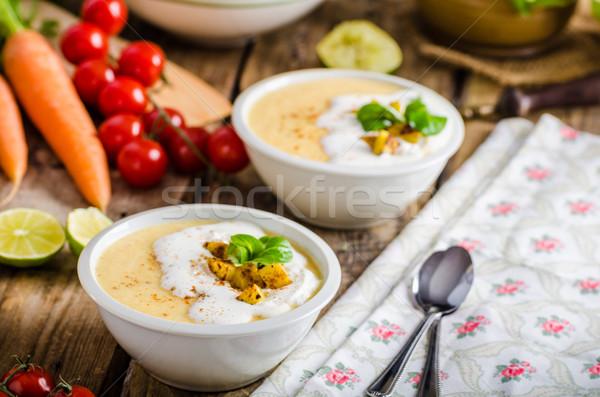 Crémeux céleri soupe maison crème fouettée Photo stock © Peteer