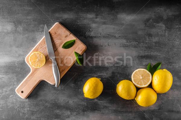 Fresh lemons photo Stock photo © Peteer