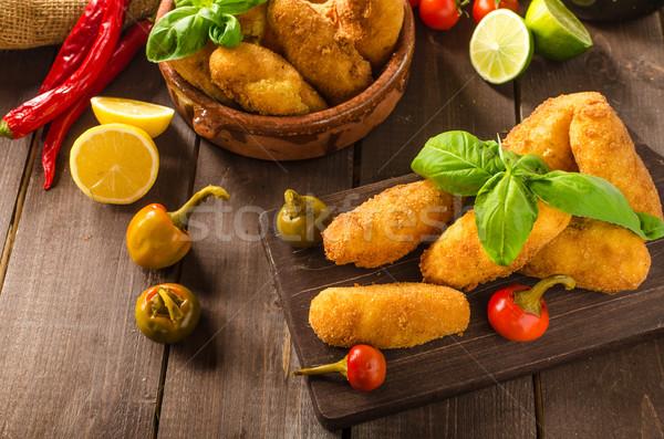 домашний картофеля сыра чили простой продовольствие Сток-фото © Peteer