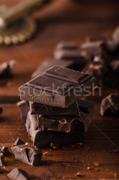 Cioccolato fondente prodotto fotografia pronto pubblicità testo Foto d'archivio © Peteer
