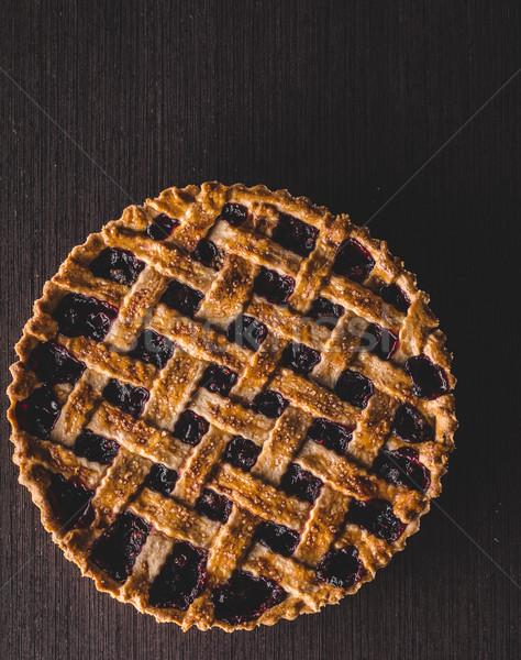 Berries rustic tart Stock photo © Peteer