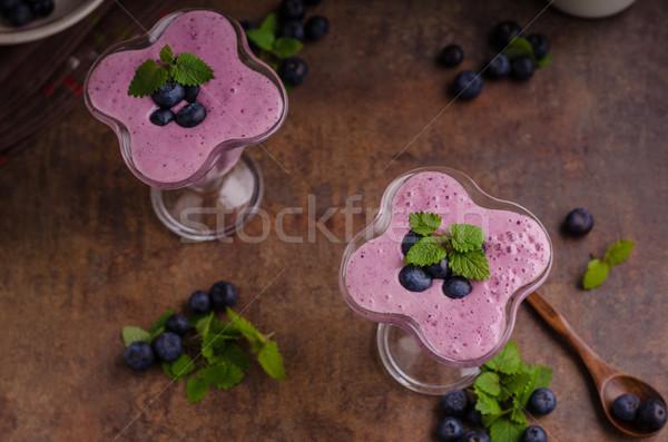 Berries milkshake smoothie Stock photo © Peteer
