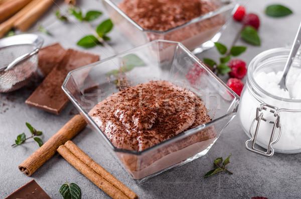 液果類 プリン 新鮮な 自家製 食品 チョコレート ストックフォト © Peteer