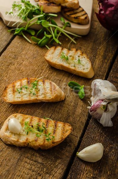 Garlic toast toasted panini Stock photo © Peteer