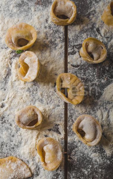 домашний Пельмени фаршированный сыра обеда Сток-фото © Peteer