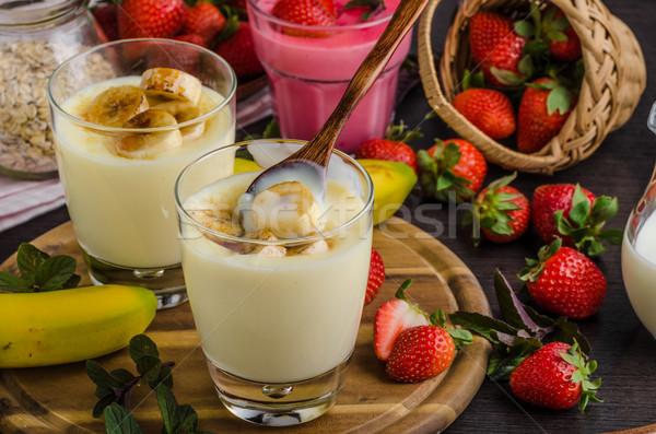 バナナ 写真 単純な デザート 食品 チョコレート ストックフォト © Peteer