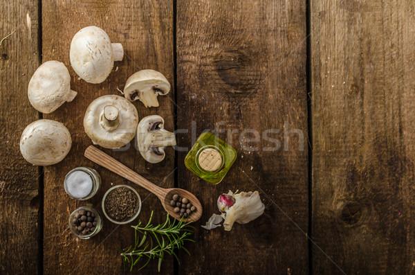 Biyo sarımsak baharatlar mantar ev Stok fotoğraf © Peteer