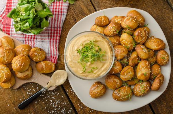 プレッツェル チーズ ディップ 自家製 チェダー ストックフォト © Peteer