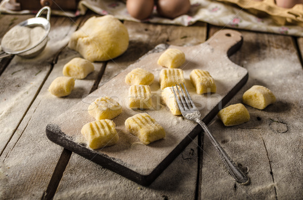 Stock photo: Homemade potato gnocchi