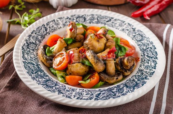Сток-фото: гриб · Салат · чили · помидоров · продовольствие
