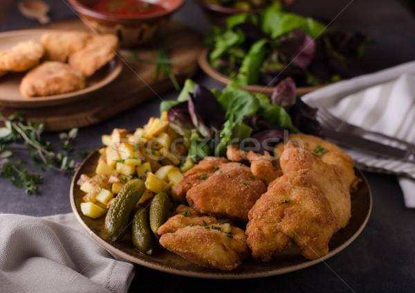 Origineel voedsel fotografie klaar restaurant Stockfoto © Peteer
