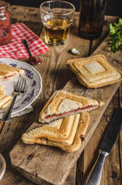 Oude boheems toast jam bier najaar Stockfoto © Peteer
