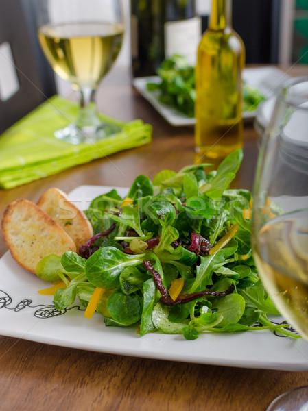 Saláta paprikák friss bárány saláta hagymák Stock fotó © Peteer