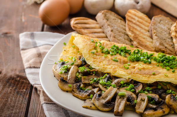 Rústico setas cebollino panini salud Foto stock © Peteer