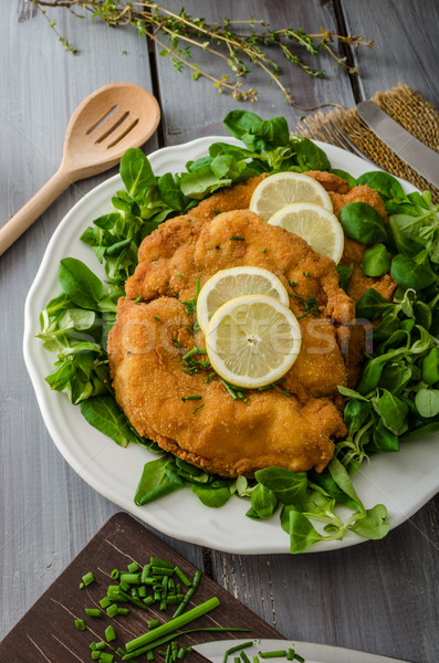 German schnitzel Stock photo © Peteer