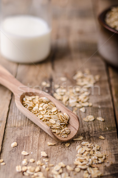 Raw oatmeal product Stock photo © Peteer