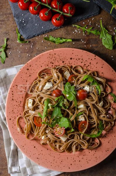 спагетти моцарелла помидоры черри простой продовольствие Сток-фото © Peteer