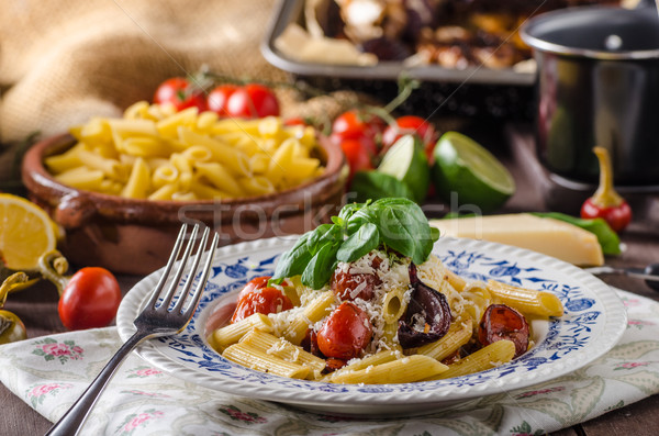 Pasta with baked vegetable Сток-фото © Peteer