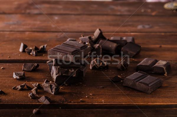 Chocolate escuro produto fotografia pronto texto Foto stock © Peteer