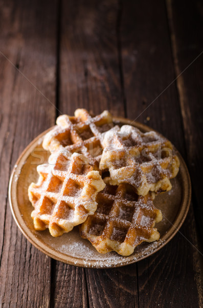 Sugar waffles product photo Stock photo © Peteer