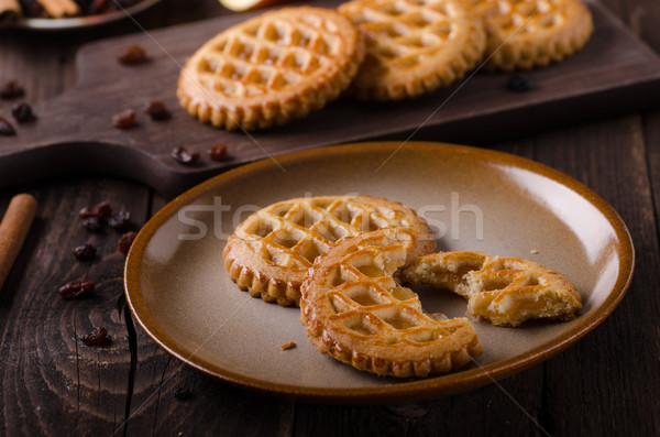 Stock photo: Cookies with apple filling, delish homemade