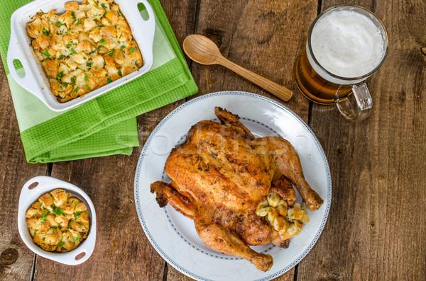 курица-гриль фаршированный чешский пива все травы Сток-фото © Peteer