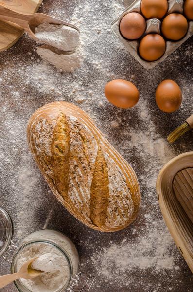 Homemade sourdough bread rustic Stock photo © Peteer