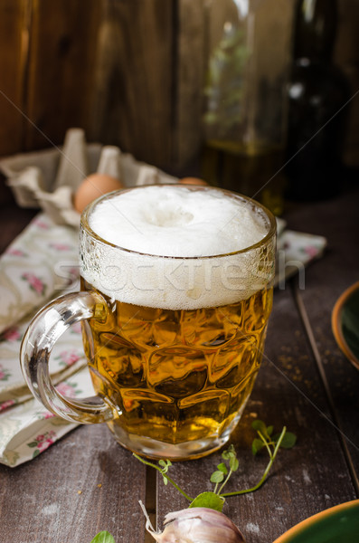 Сток-фото: картофеля · чеснока · пива · травы