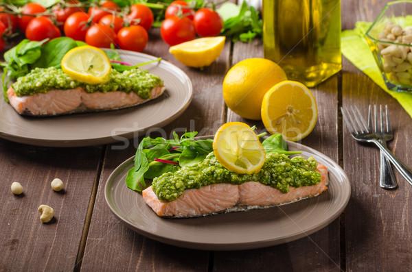 鮭 ペスト 新鮮な サラダ ストックフォト © Peteer