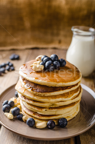 Original american pancakes Stock photo © Peteer