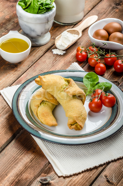 Home calzone rolls Stock photo © Peteer