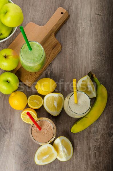 Fresco caseiro toranja banana erva Foto stock © Peteer