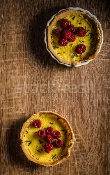 Limone crostata rosmarino frutti di bosco crema legno Foto d'archivio © Peteer